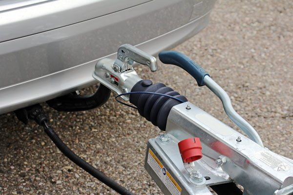 Newly fitted weight distribution hitch